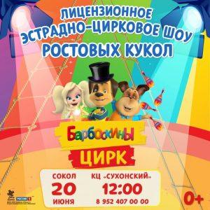 20 июня - Эстрадно-цирковое шоу «БАРБОСКИНЫ ЦИРК» @ Культурный центр